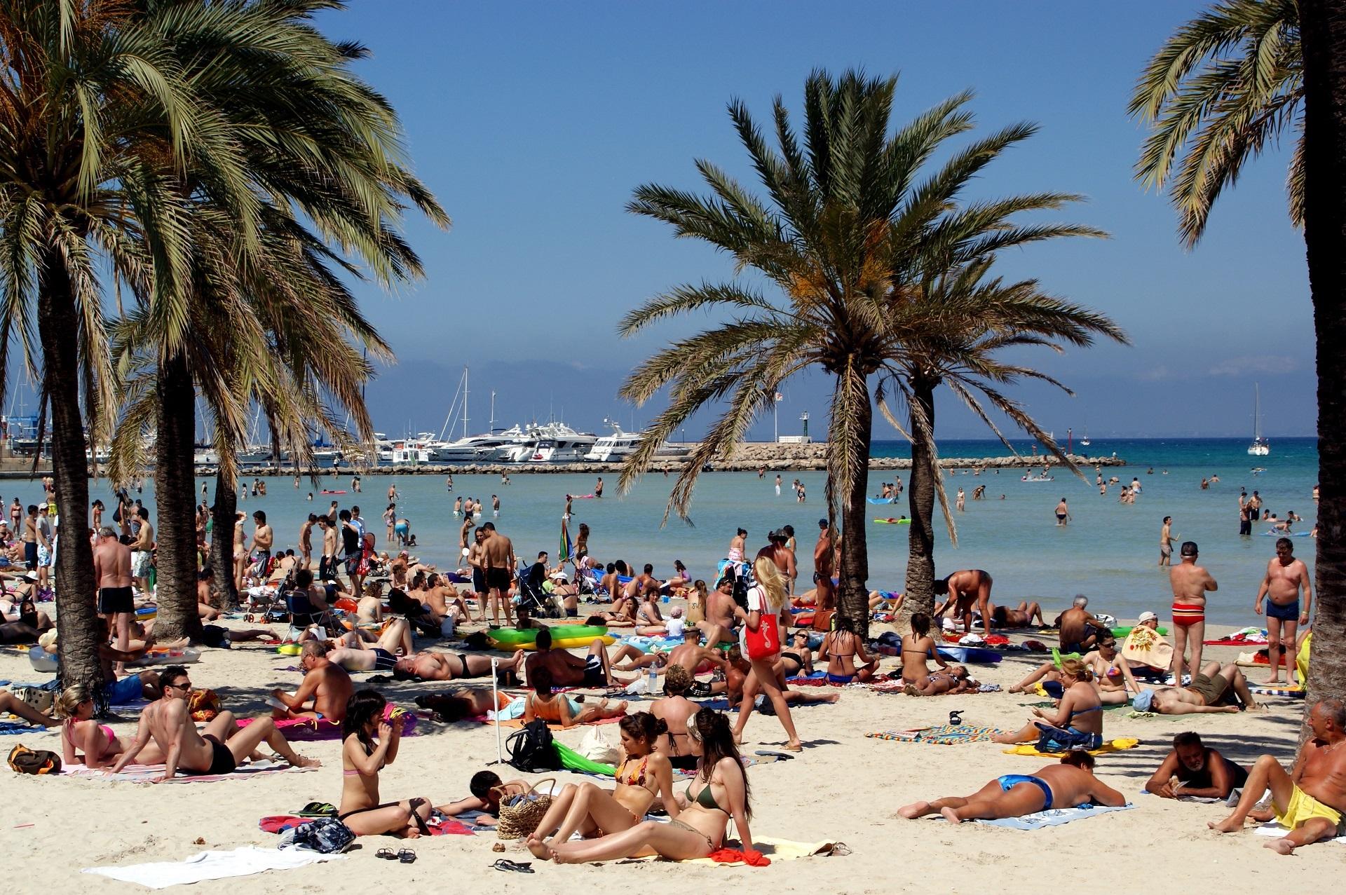 La spiaggia di arenal a maiorca divertimento al sole for Palma de maiorca dove soggiornare