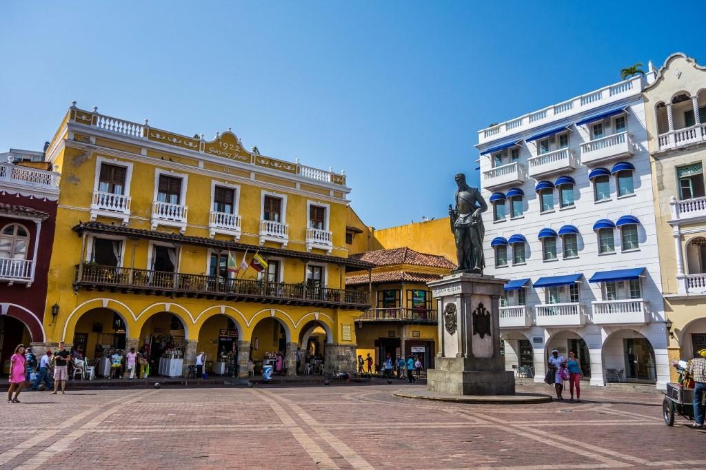 Cartagena in Colombia - plaza de lo coches