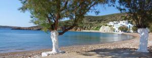 isola di Kimolos nelle Cicladi
