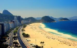 la spiaggia di Copacabana a Rio