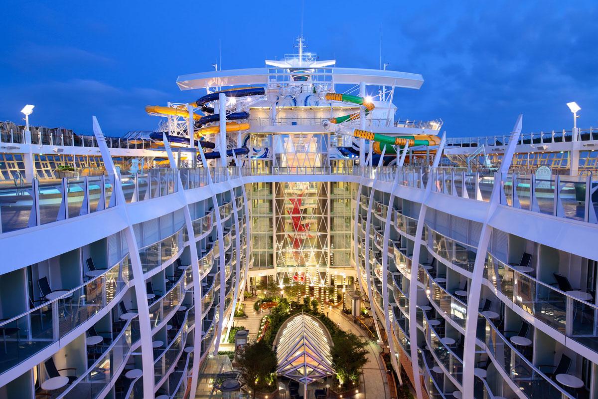 Salpiamo sulla nave da crociera pi grande del mondo for Quali cabine sono disponibili sulle navi da crociera