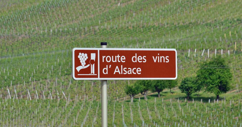 strada dei vini in Alsazia