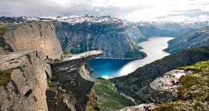 vedere tra i fiordi della Norvegia